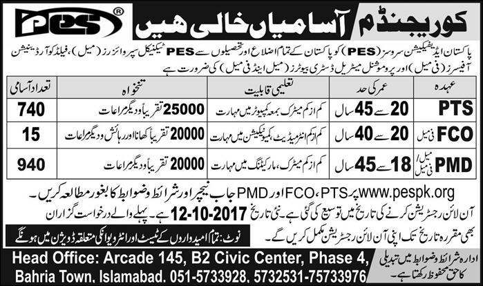 jobs in pakistan edification services islamabad