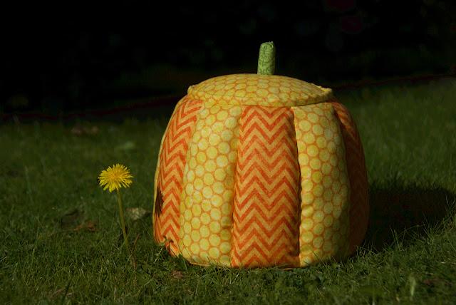 Halloween patchwork pumpkin