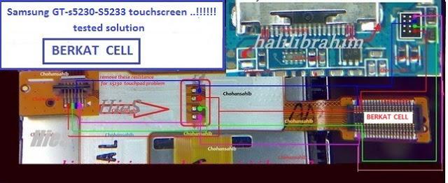 Unique Mobile Repairing  S5233s Touch Ic Jumper