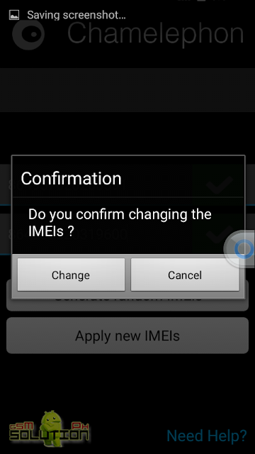 chamelephon confirm changing IMEI