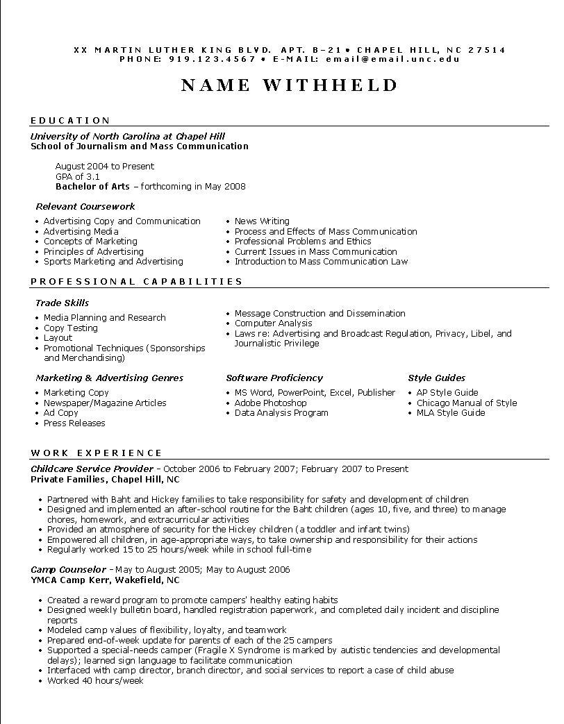 Simple Sales Resume