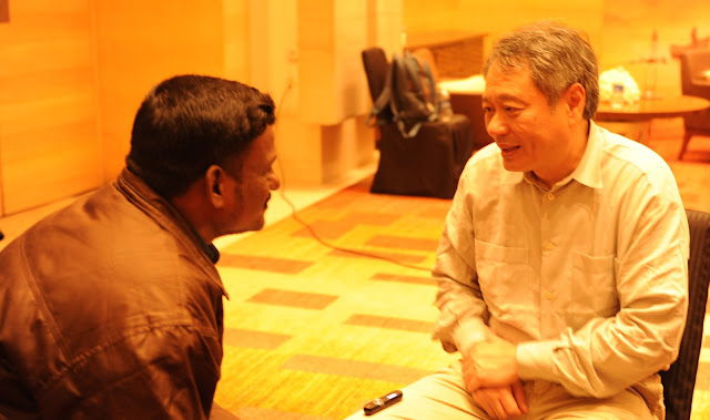 tamil journalist samas with director aang lee