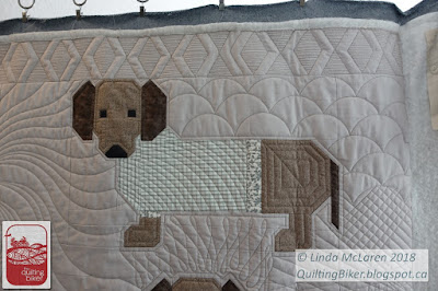 Doxy's in Sweaters Quilt - close up