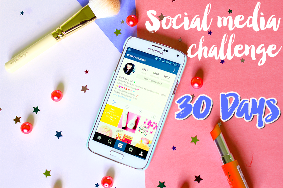 30 Day Challenge social media