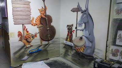 Malowanie klasy szkolnej, malowanie klasy, ciekawy pomysł na malowanie sali w szkole, jak pomalować sale Muzyczną? inspiracje w malowaniu klas muzycznych