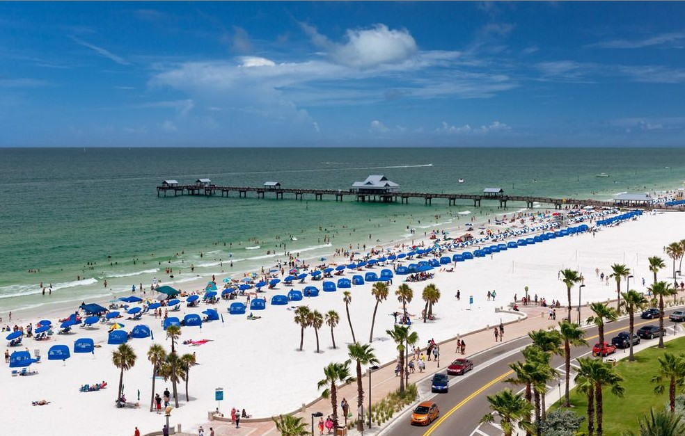 Clearwater Beach around Orlando Florida