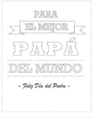 Imagenes para colorear el dia del padre