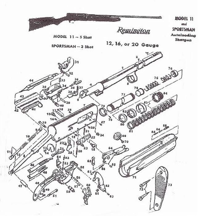 browning auto 5 shotgun parts diagram