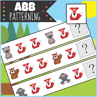 https://www.teacherspayteachers.com/Product/Woodland-Animals-ABB-Patterning-Activity-3213548