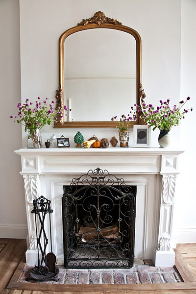 Heart Of Gold Inspiration Dressing Up A Mantel
