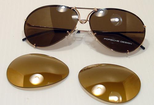 Gafas con lentes intercambiables de Porsche.