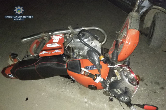 П'яний водій мотоцикла влаштував ДТП