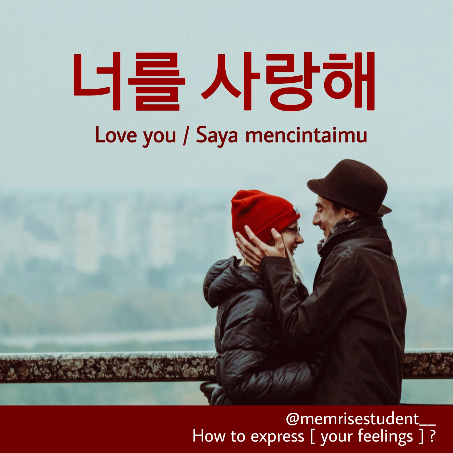 The casual way to say I love you in Korean