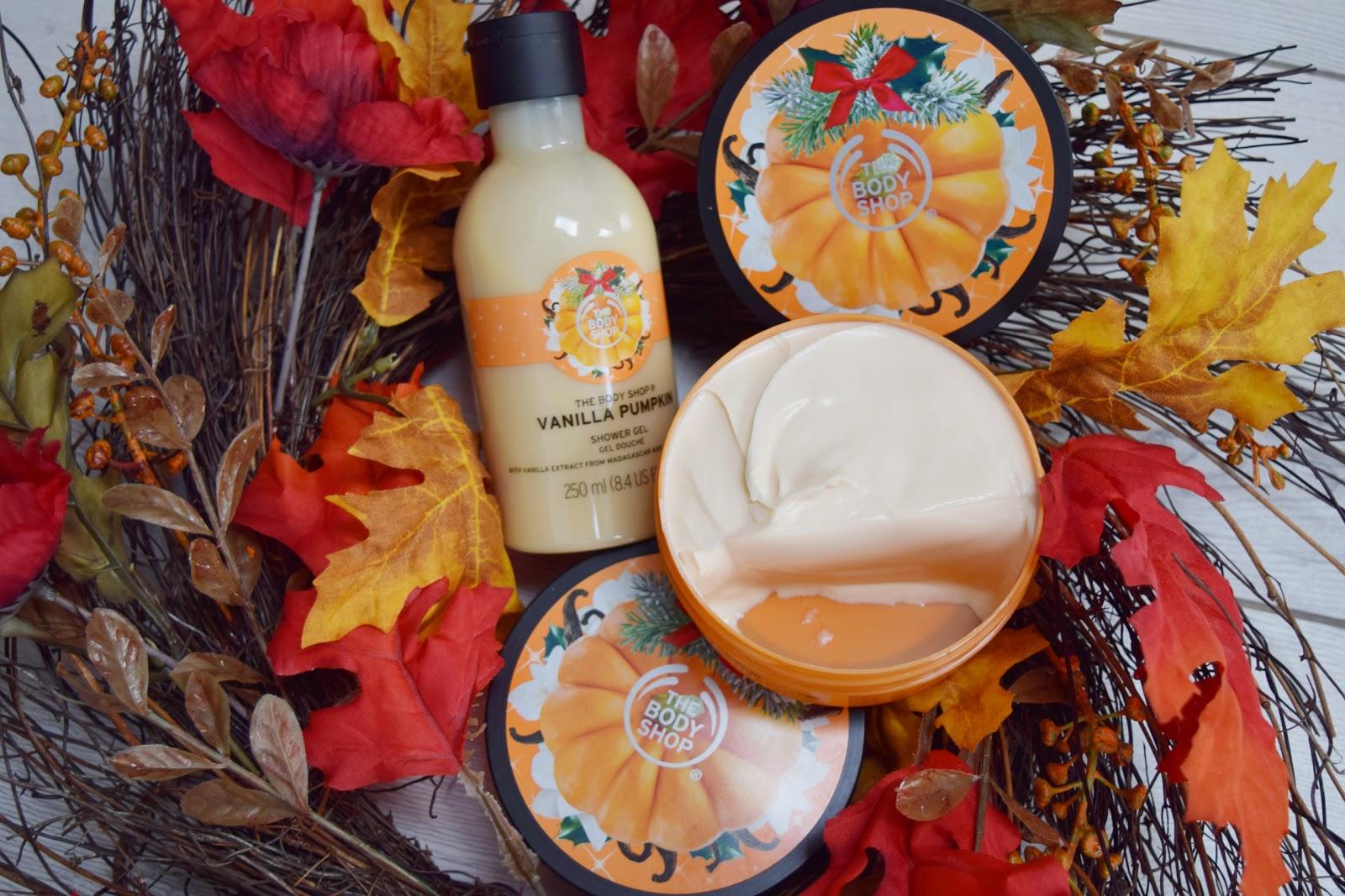 The Body Shop`s Vanilla Pumpkin Shower Gel and Body Butter Review