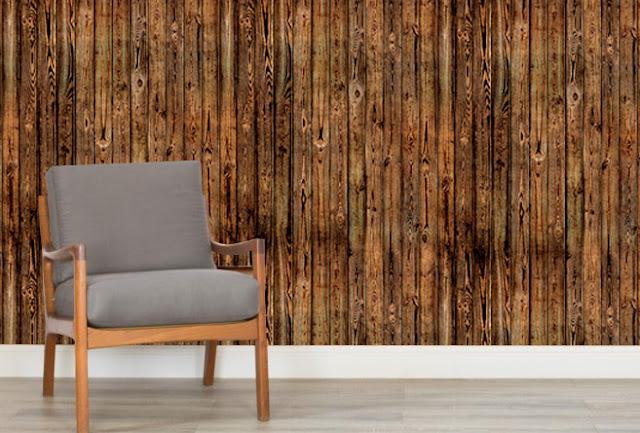 Lautaseinä Tapetti Paneloitu puujäljitelmä