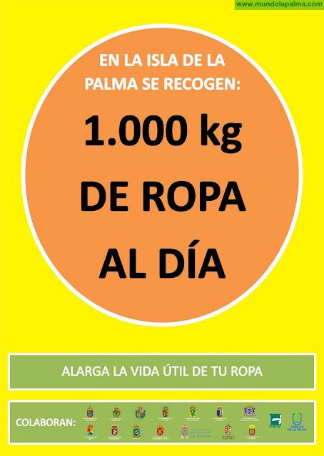 El día contra el consumismo Isonorte expondrá en la calle la ropa que se recoge en La Palma en un solo día