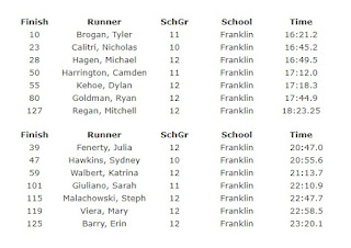 FHS boys 6th, girls 13th in D1 Cross Country meet