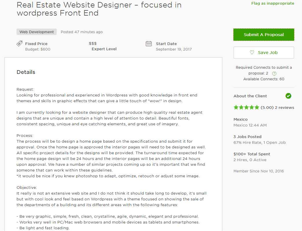 Upwork Cover Letter Sample for Web Developer - Upwork Help