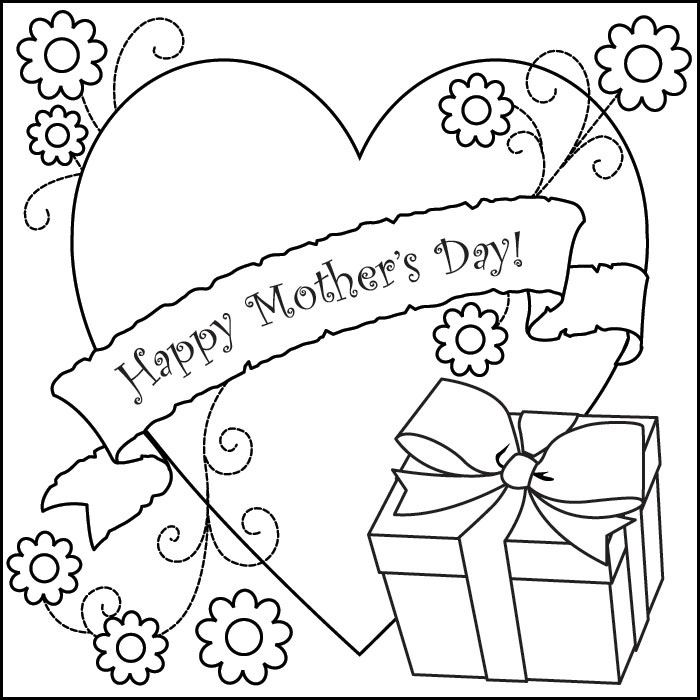 Coloring pages for Happy mothers day coloring page