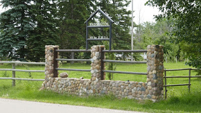Patricia, Alberta, school, sign