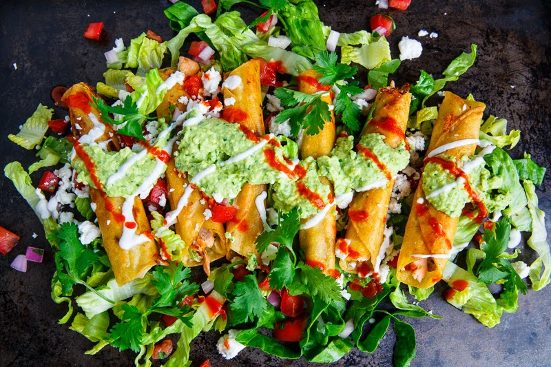 Cilantro Lime Salmon Taquitos Recipe on Closet Cooking
