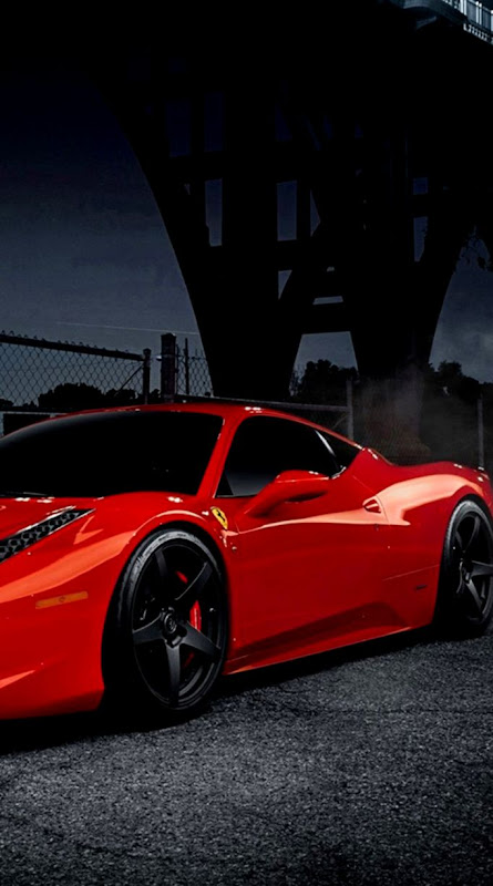 Black Red Ferrari Iphone Wallpaper