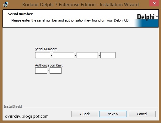 delphi 8 serial number authorization key