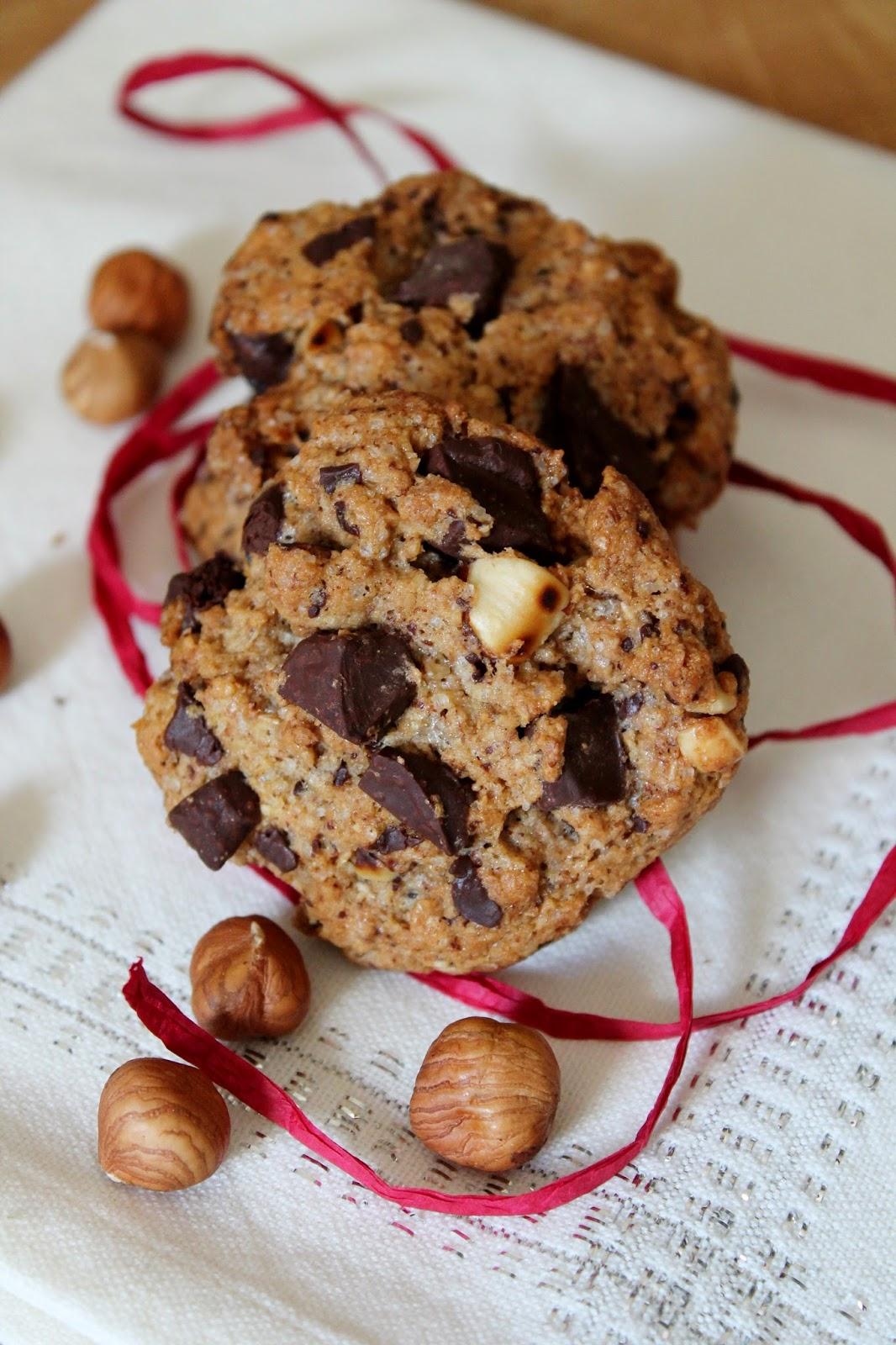 cookies chocolat et okara de noisettes sans oeuf sans beurre mes meilleurs cookies. Black Bedroom Furniture Sets. Home Design Ideas