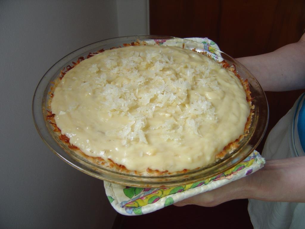 Banana Coconut Cream Pie With Coconut Crust