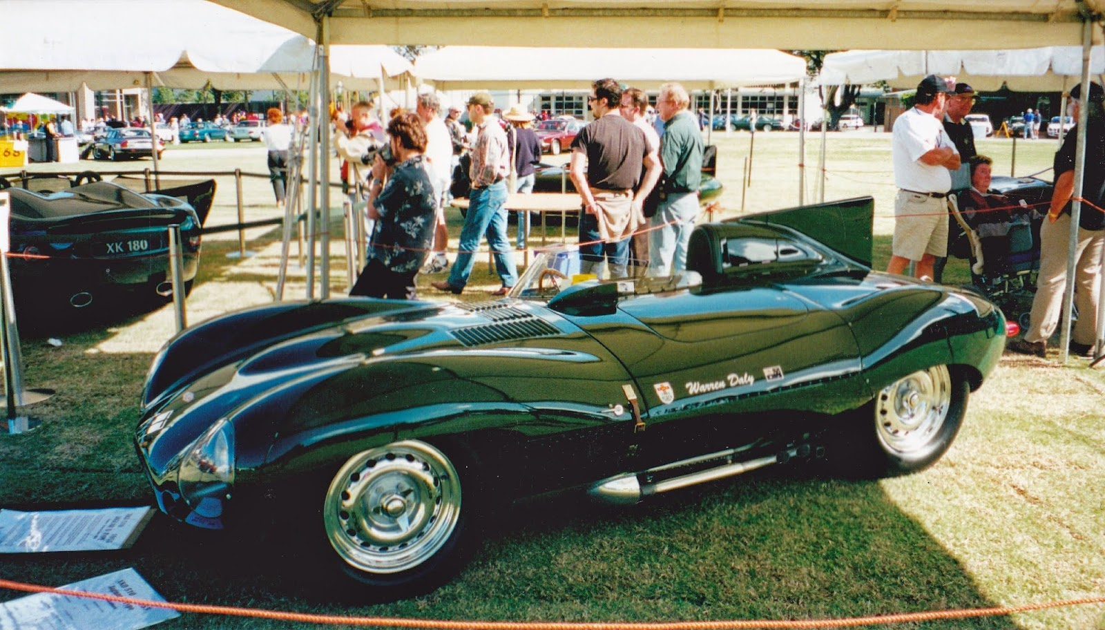 Aussie Old Parked Cars: 1999 Jaguar XK 180 - JDC Sydney