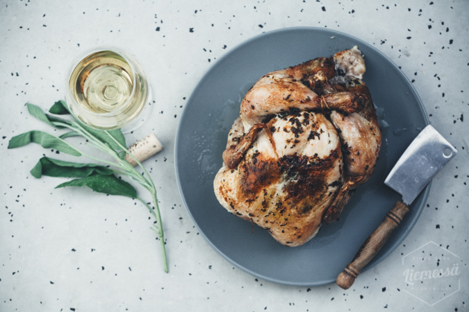 kokonainen kana uunissa resepti