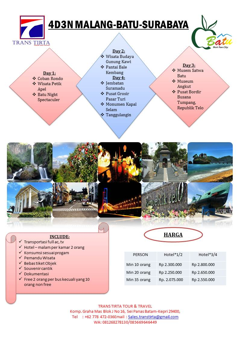 Info Harga Bangkok Pattaya 4d 3n Start Surabaya Update 2018 4d3n Include Nanta Show Tours Travel Paket Malang Batu