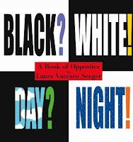 black on white, white on black book cover