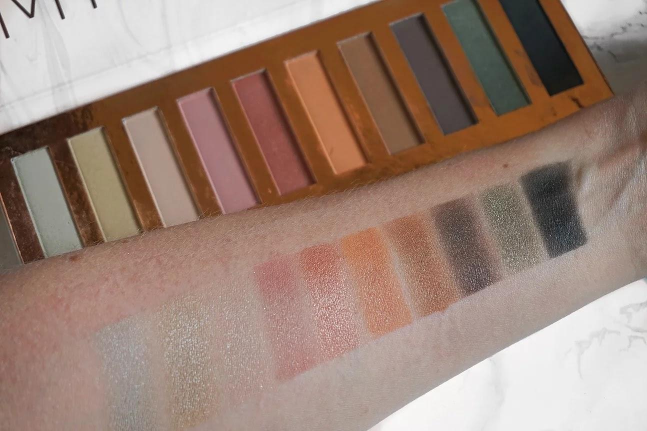 Primark Minerals Eyeshadow Palette Swatch