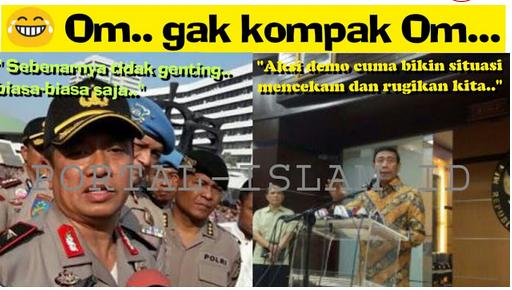 Wiranto: Demo Bikin Mencekam dan Merugikan, Wakapolda: Biasa Saja..