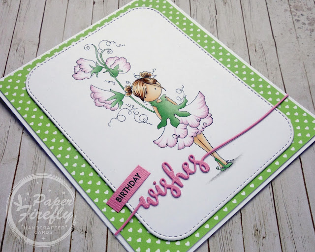 Handmade pretty floral birthday card using Tiny Townie Garden Girl Sweet Pea