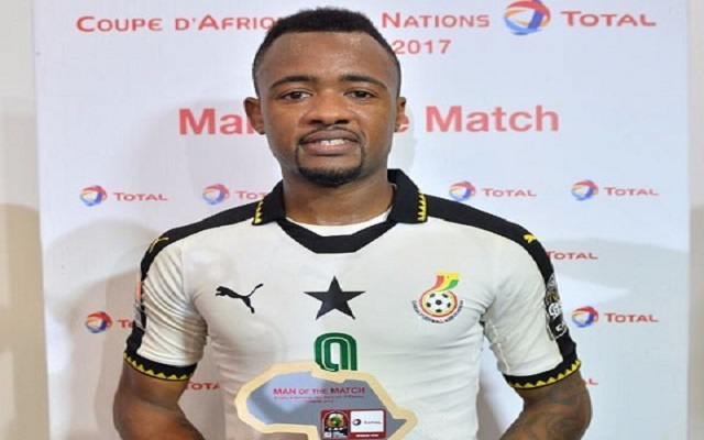 Jordan Ayew picks up Man of the Match award