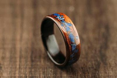 Mango Bentwood Ring