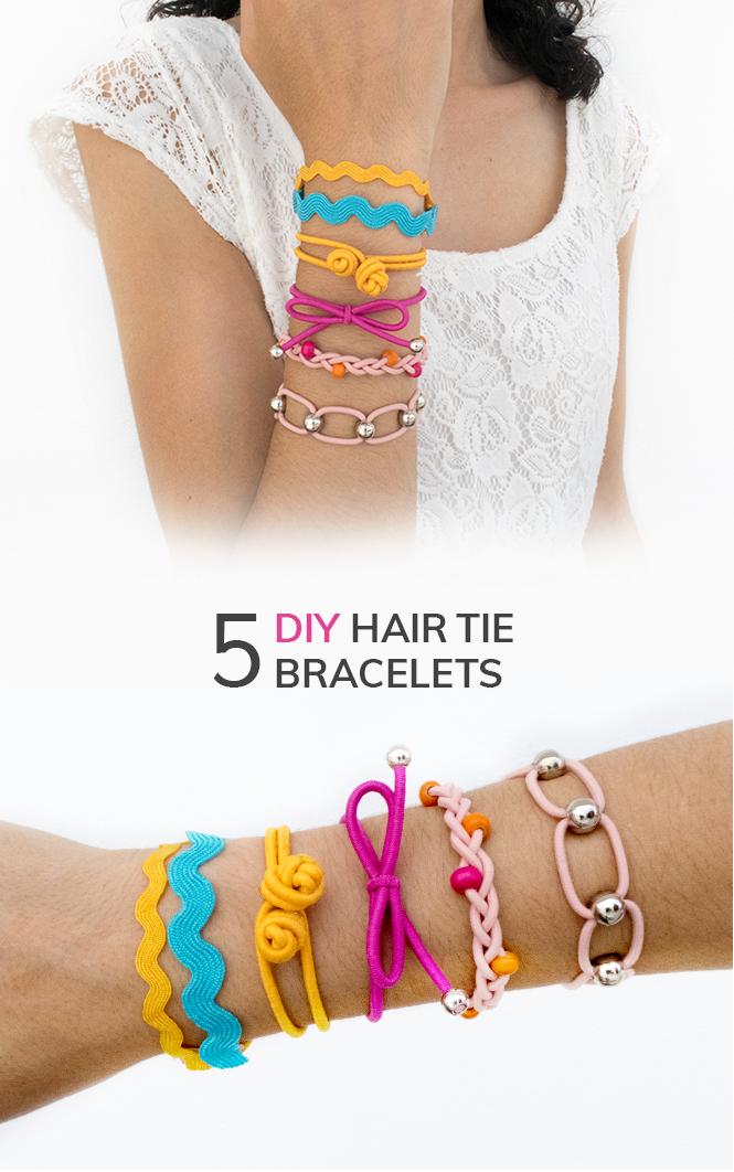 Diy 5 Styles Of Hair Tie Bracelets Friendship Bracelets