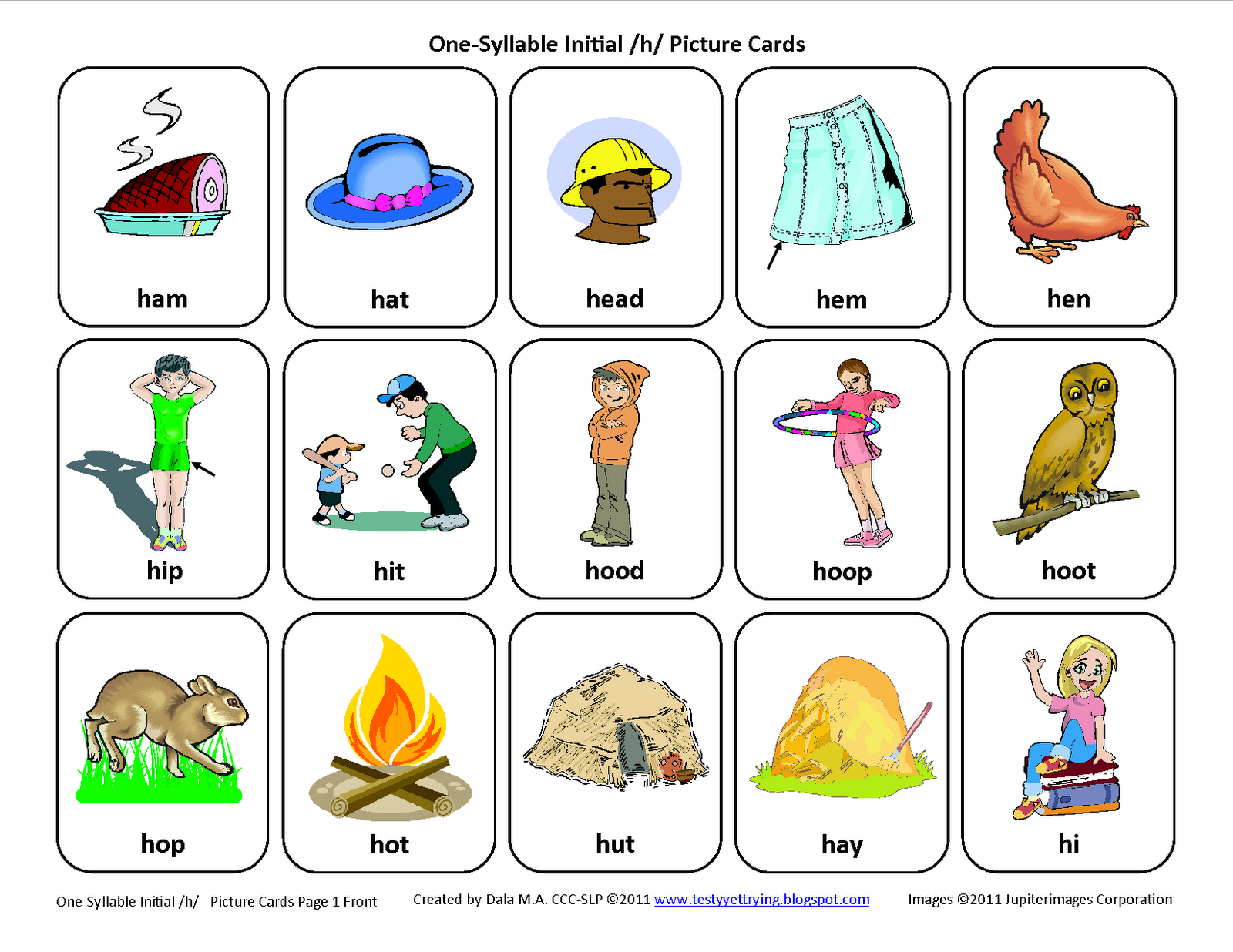 Worksheets Free Articulation Worksheets testy yet trying initial h free speech therapy articulation instructions for printing and using the cards are included in set