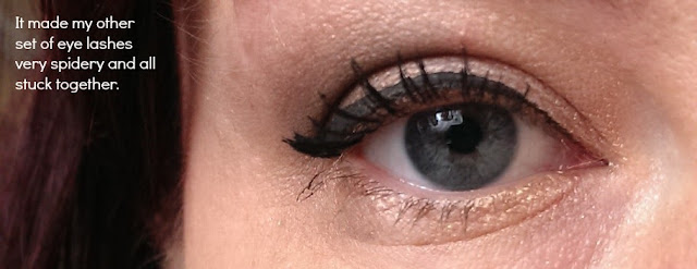 Spidery lashes with Rimmel retro glam