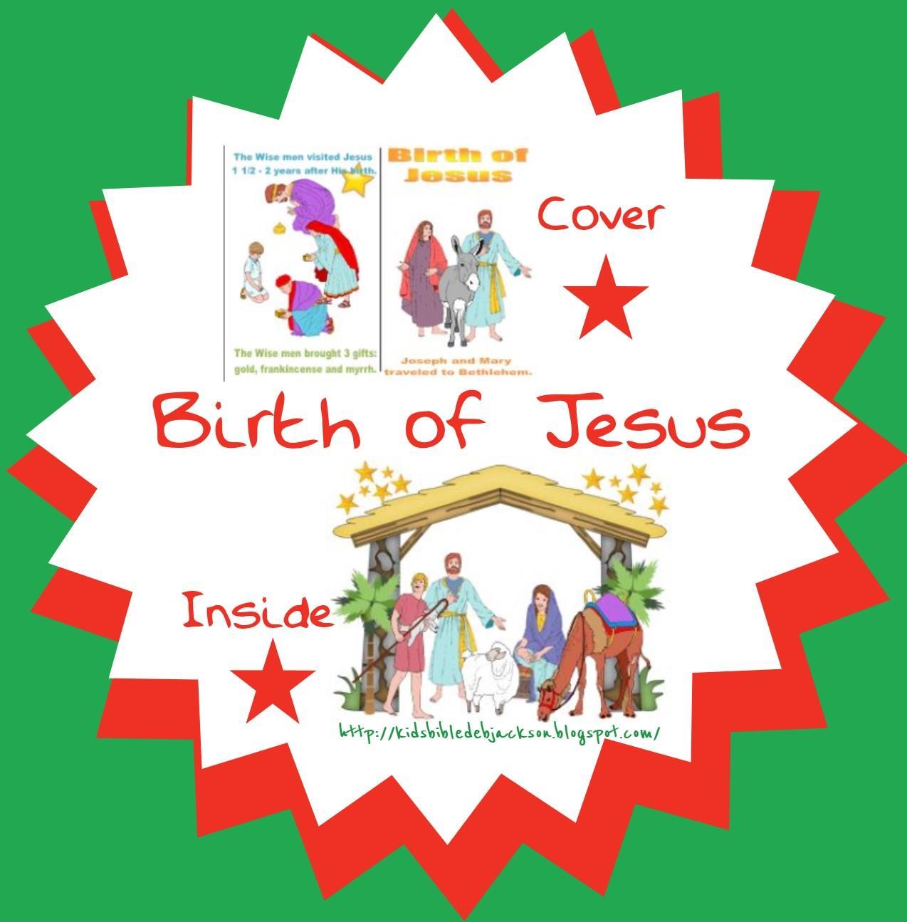 Bible Fun For Kids Birth Of Jesus Cut Amp Glue Mini Book For Preschool