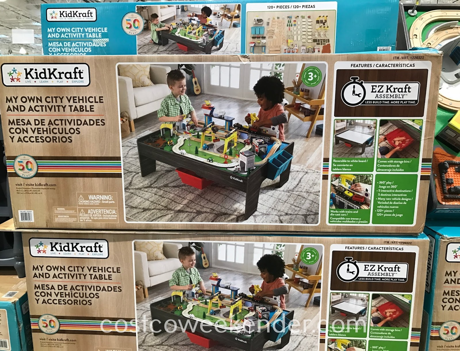 Costco 1220322 - KidKraft My Own City Vehicle and Activity Table: great for any child's bedroom or playroom