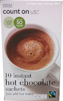 M&S count on us low calorie hot chocolate