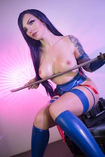 katyuska mooonfox hot naked psylocke cosplay 01