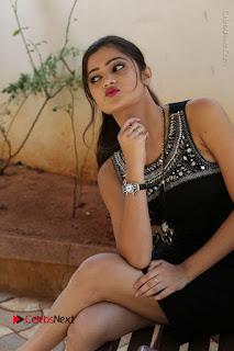 Actress Poojitha Pallavi Naidu Stills in Black Short Dress at Inkenti Nuvve Cheppu Movie Platinum Disc Function  0208.JPG