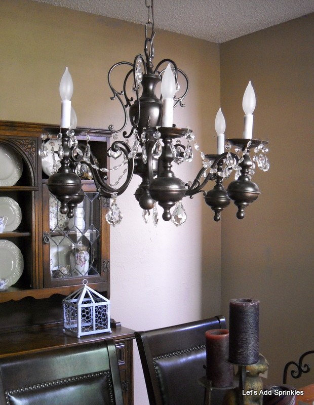 Let S Add Sprinkles Spray Painted Chandelier Makeover