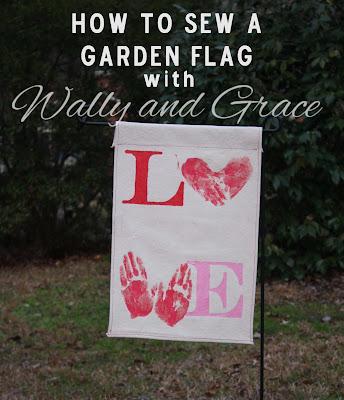 Garden flag tutorial by Wally and Grace for Lulu & Celeste