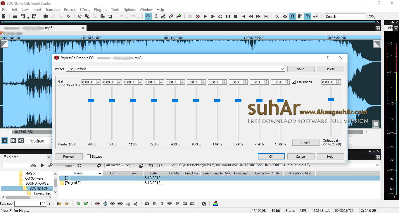 Gratis Download MAGIX Sound Forge Audio Studio Full Crack Terbaru, MAGIX Sound Forge Audio Studio Plus Patch