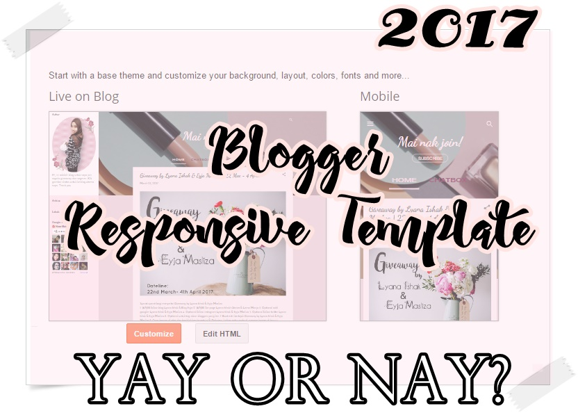 The new template blogger 2017